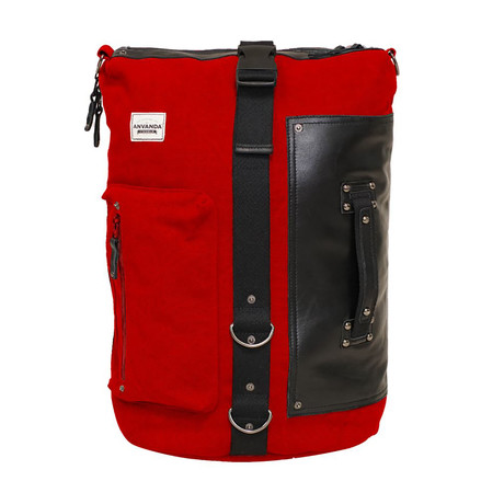 Använda Leather // Red + Black (Large)