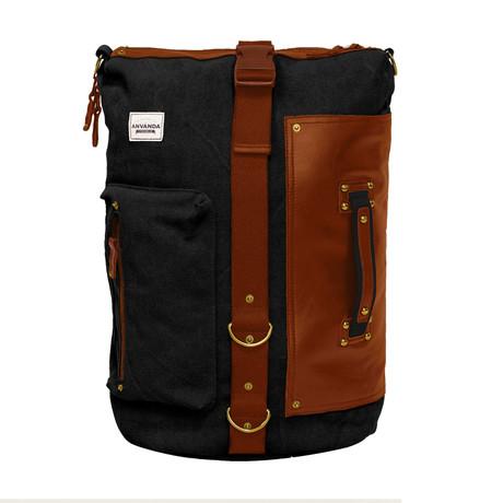 Anvanada Leather // Black + Brown (Large)