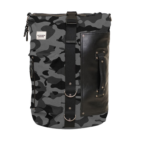 Använda Leather // Camo Grey + Black (Large)