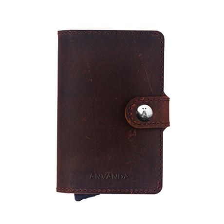 Använda Leather Wallet // Chocolate Brown