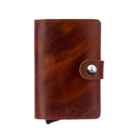Använda Leather Wallet // Stockholm Brown