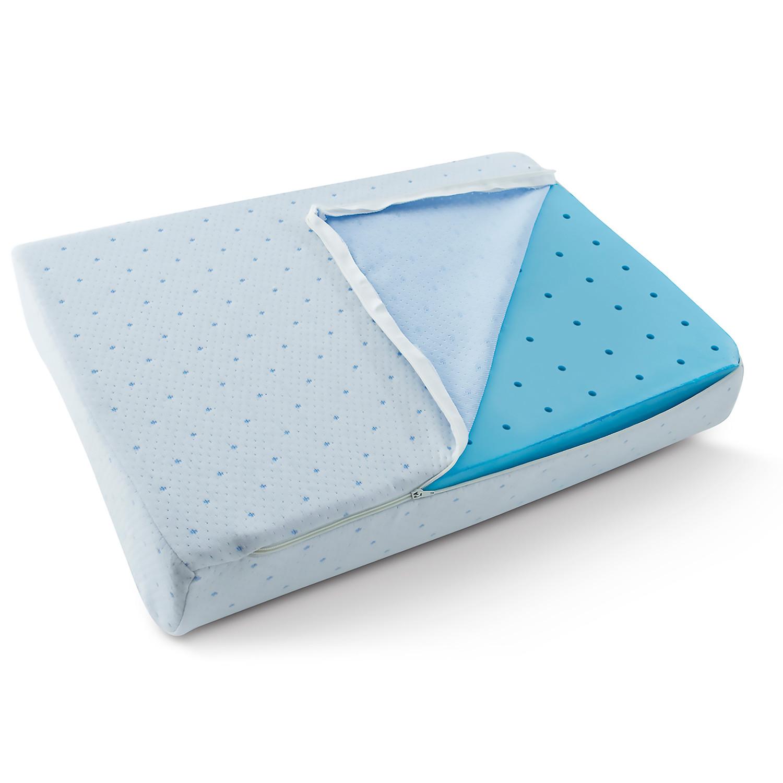 Arctic Sleep Cool Blue Memory Foam Pillow Contour