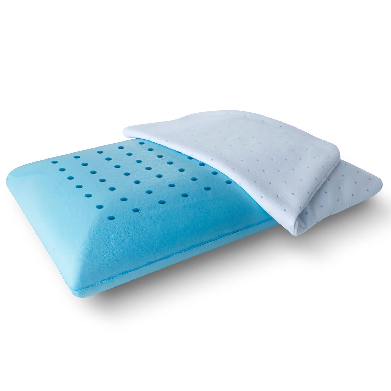 Arctic Sleep Cool Blue Memory Foam Pillow Traditional
