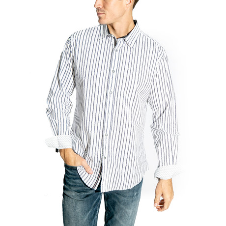 Long-Sleeve Button Down Woven // White (S)