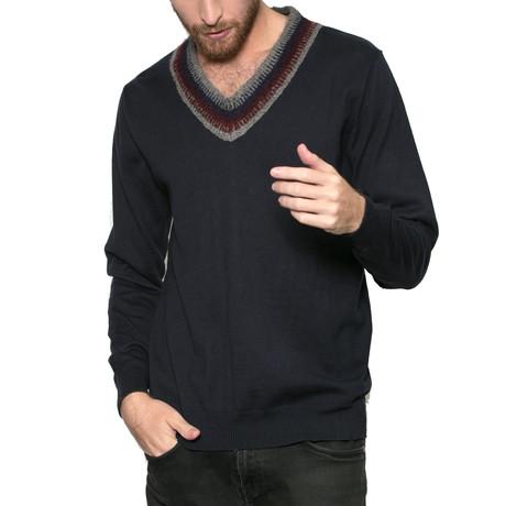 Dev V-Neck Sweater // Navy (S)