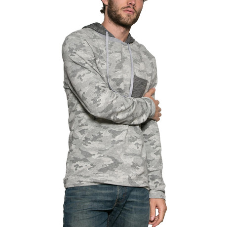 Dusted Long-Sleeve Pullover Hoodie // Light Grey (S)