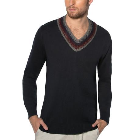 Dev V-Neck Sweater // Charcoal (S)