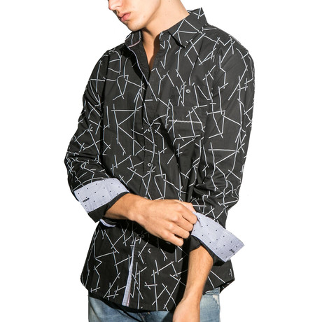 El Carmel Long-Sleeve Button Down Knit // Black (S)