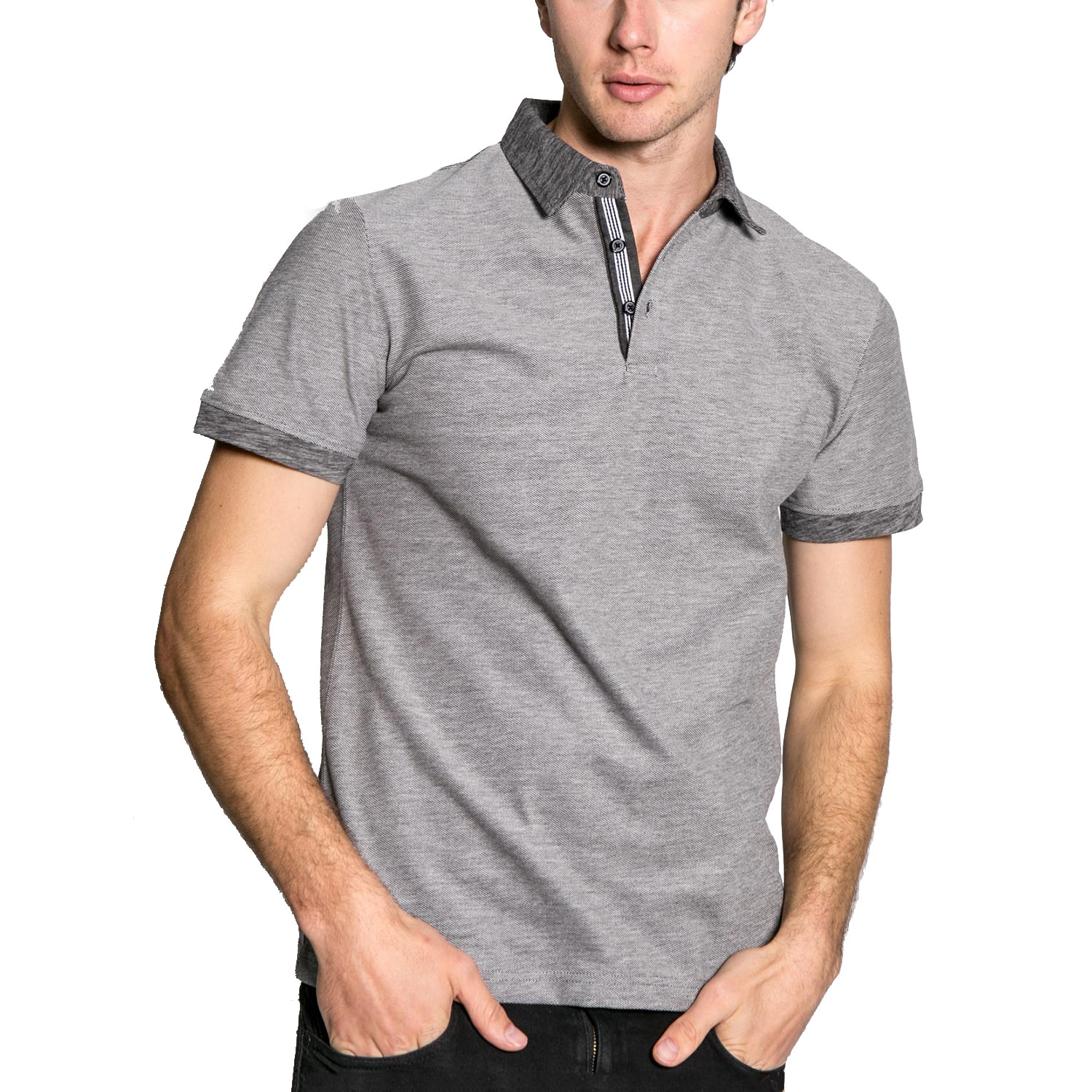 17dfeb04eaa Business Casual Knit S S Polo Shirt    Grey (XL) - Smash Trends ...