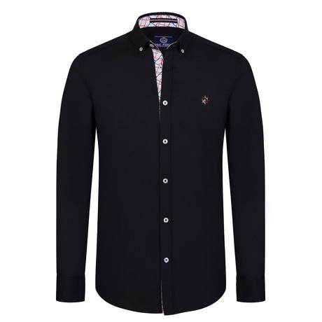 Kaylem Button Down Shirt // Black (S)