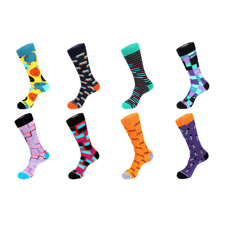 Crew Sock Combo Set // Lincoln // 8 Pack