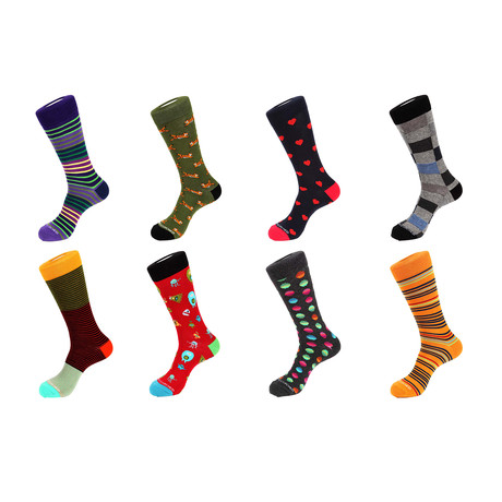 Crew Sock Combo Set // Owen // 8 Pack