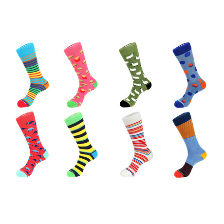 Crew Sock Combo Set // Darryl // 8 Pack