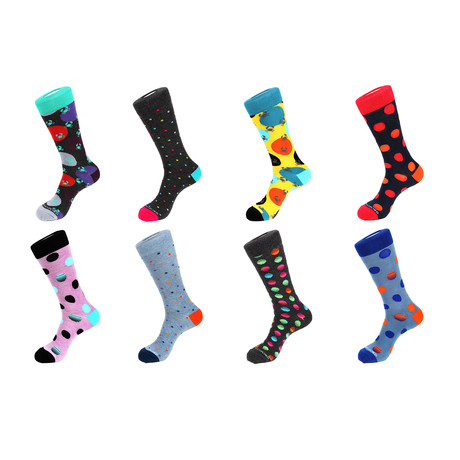 Crew Sock Combo Set // Justin // 8 Pack