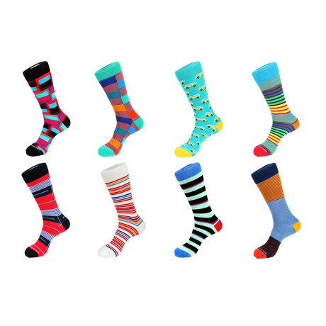 Crew Sock Combo Set // Nash // 8 Pack