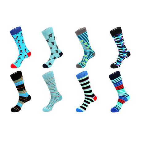 Crew Sock Combo Set // Darren // 8 Pack