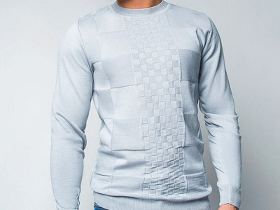 Photo of CLEARANCE: Outerwear We've Got You Covered Wool Sweater + Checkered Design // Light Gray (M) by Touch Of Modern