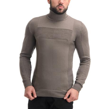 Wool Polo Neck // Cappuccino (L)