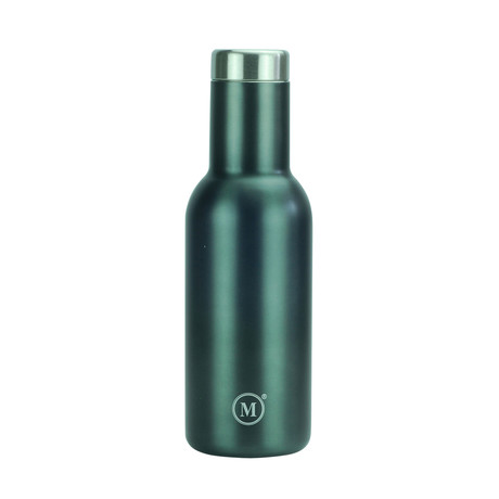 Stainless Steel Vacuum Insulated Wine Bottle // Gunmetal (350ml)