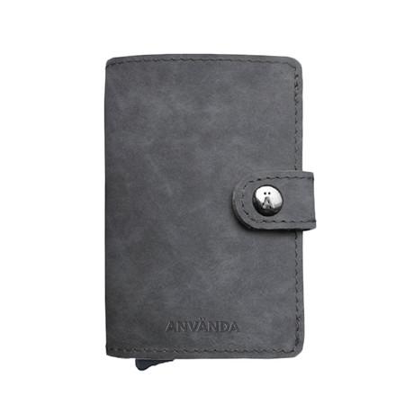 Använda Leather Wallet // Stockholm Grey