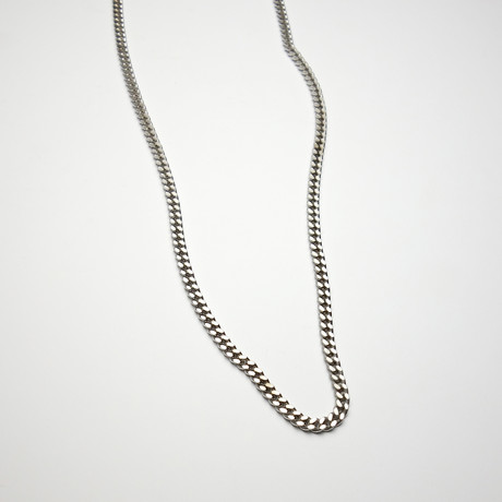 Brass Silver Cuban Chain