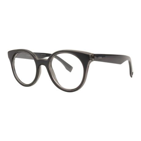 Fendi // Women's FF-0198 Optical Frames // Gray + Blue