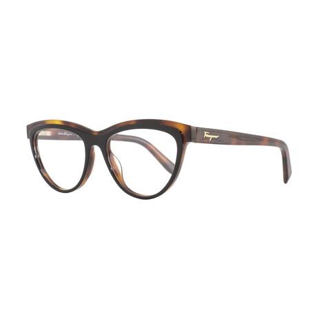 Ferragamo // Women's Acetate Optical Frames // Black Havana