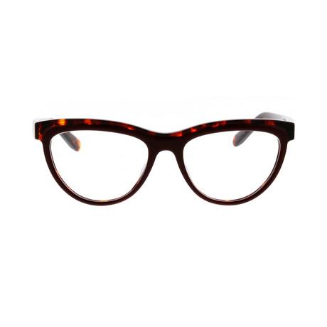 Ferragamo // Women's Acetate Eyeglass Frames // Burgundy-Havana