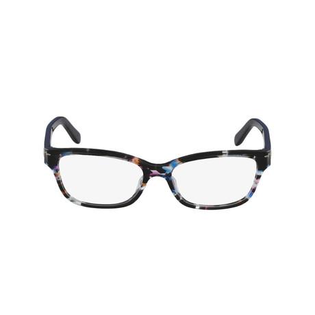 Ferragamo // Women's Acetate Eyeglass Frames // Geometric Fuchsia + Azure