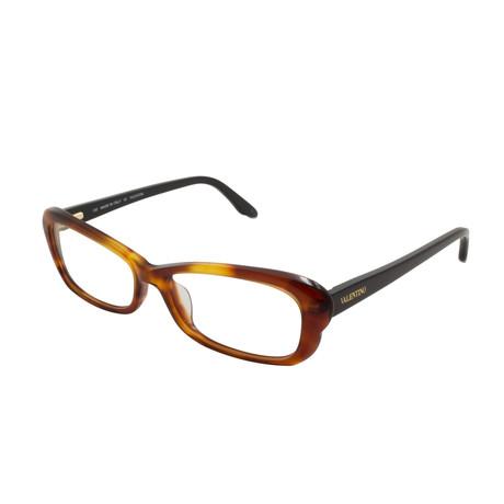 Valentino // Women's Acetate Optical Frames // Blonde Havana