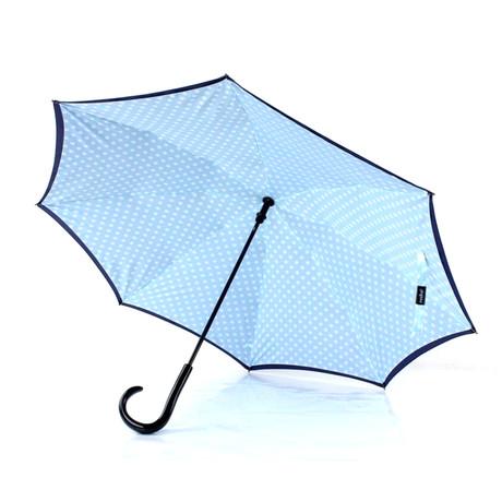 Reversible Umbrella // Black + Dots