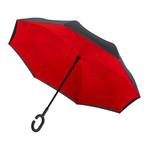 Reversible Umbrella // Manual Opening +Windproof // Red