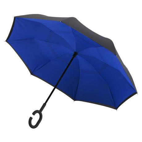 Reversible Umbrella // Manual Opening +Windproof // Blue