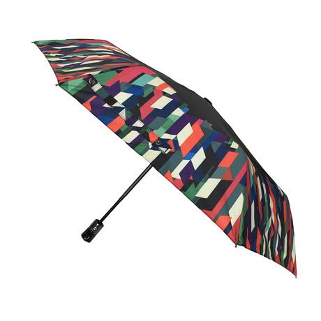 Folding Windproof Umbrella // Automatic Open + Close // Geometric Print