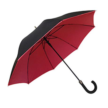 Double Canopy Walking Umbrella // Black + Red