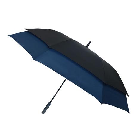 Long Umbrella + Innovative Frame // Navy Blue + Black