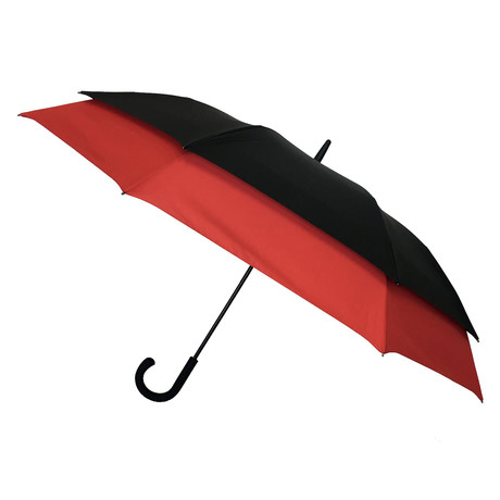 Long Umbrella + Innovative Frame // Red + Black