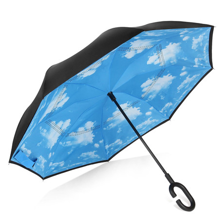 Reversible Umbrella // Black + Sky