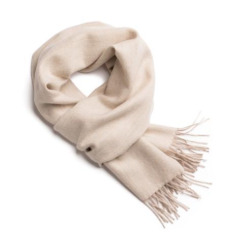 Scarf Exclusive Fishbone// White + Beige