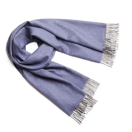 Shawl Exclusive Fishbone // Blue + Gray