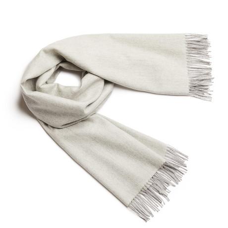 Shawl Exclusive Fishbone // White + Silver