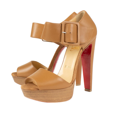 Women's // Haute Retenue 140mm Sandals // Brown (Euro: 40)