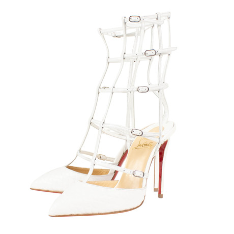 Women's Kadreyana 100mm Caged Heels // White (Euro: 40)