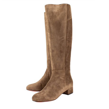 Women's Liliboot Brown Suede 30mm Boots // Brown (Euro: 40)