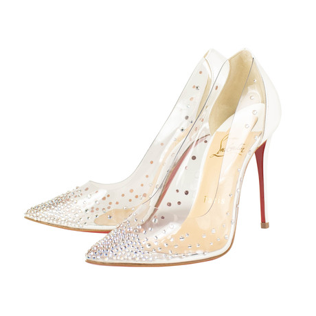 Louboutin // Women's Degrastrass Pvc 100 mm Heels // White (Euro: 36)