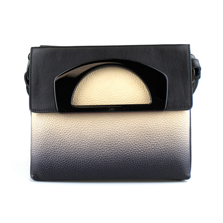 Christian Louboutin // Leather Passage Messenger Bag // Black + Beige