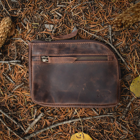 Leather Gear Pouch (Dark Walnut)