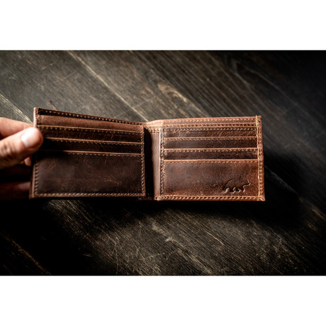 Bifold Wallet // Antique Brown