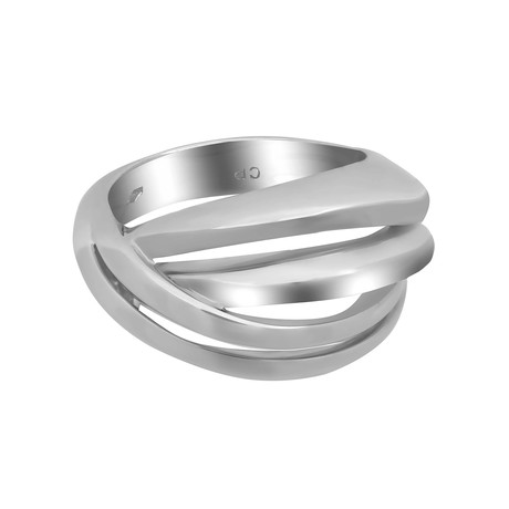 Bucherer 18k White Gold Ring I // Ring Size: 6.5