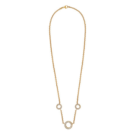 Bucherer 18k Yellow Gold Diamond Necklace